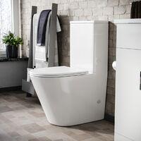 Oakham Rimless Close Coupled Toilet & Soft Close Seat