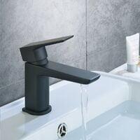 Keninton Bathroom Basin Mono Mixer Black Matt Tap & Waste