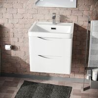 Lyndon 500mm Wall Hung Basin Vanity Unit White