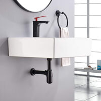 Modern Basin Sink Bottle Trap Waste Bathroom Basin Sink Pipe Matte Black