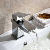 SATURN WATERFALL TAP SET - BASIN MONO & BATH SHOWER MIXER