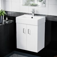 Gaidor 450mm White Gloss Wall HungBasin Vanity Unit
