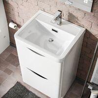 Lyndon 500mm Floorstanding Basin Vanity Unit White