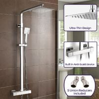 Thermostatic Shower Mixer With Slide Rail Kit Square