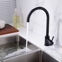 Manhattan Kitchen Single Lever Mixer Tap Matte Black