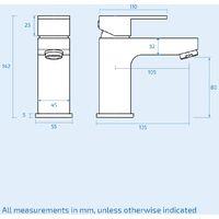 Leon Bathroom Basin Mixer Tap, Bath Filler Mixer Tap & Waste Chrome