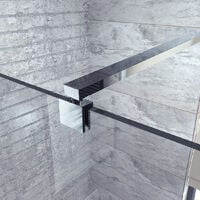 Adjustable Wall To Glass Shower Support Bar Arm Chrome