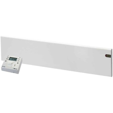 ADAX NEO Modern Electric Skirting Wall Heater / Convector Radiator + Fused Spur Timer, 600w, White