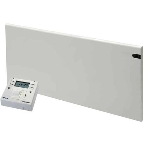 ADAX NEO Modern Electric Wall Heater / Convector Radiator, Flat + Fused Spur Timer, 400w, White