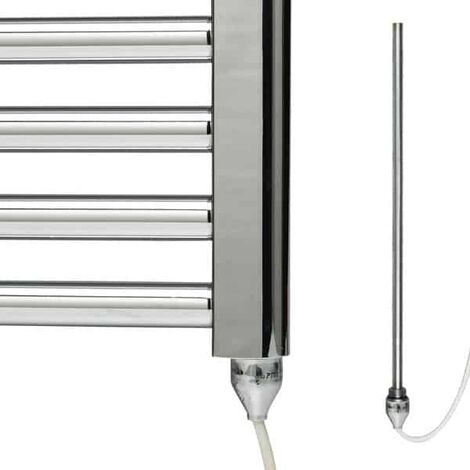 PTC Electric Heating Element For Conversion of Heated Towel Rails / Warmers / Radiators, 500w, Chrome