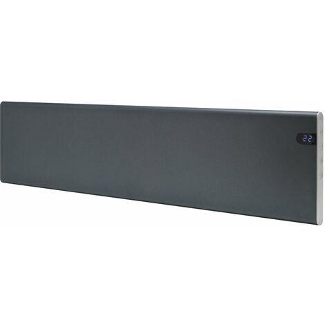 ADAX NEO Modern Electric Skirting Wall Heater / Convector Radiator, Flat Panel, 600w, Lava Grey