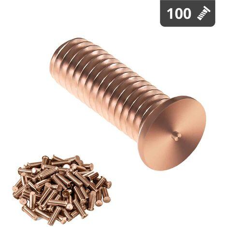 Gewindebolzen 100 M3 Schweißbolzen 10mm Spitzenzündung Schweissbolzen Stahl