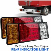 Lot de 2 Feux Arrière de Voiture 36 LED 12 V  Arrêt Indicateur Lampe Pour Remorque Camion Etanche
