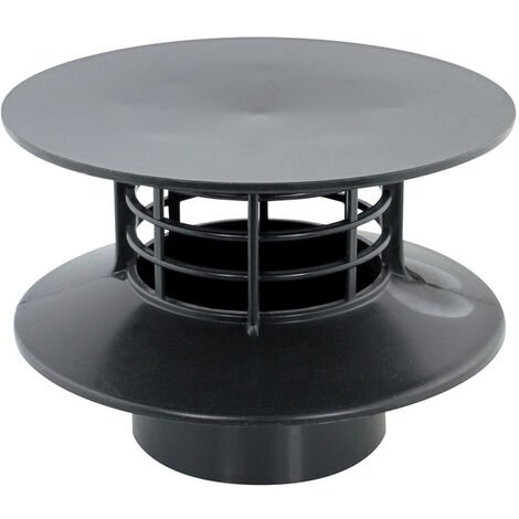 Extracteur statique pour fosse septique ou micro-station - PVC Ø100 - Gris - INTERPLAST