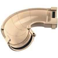 Angle universel ajustable en PVC Sable pour gouttière 250 - De 60° à 160° - FITT RAIN