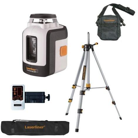 Laserliner Set de SmartLine-Laser 360° - Niveau laser + trépied et récepteur dans étui - 2 lignes - 30 m