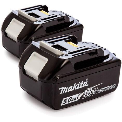Makita 197288-2 BL1850B - Lot de batteries 18V Li-ion - 5.0Ah (2 pièces)