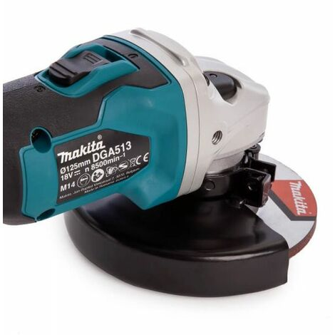 Makita DGA513Z - Meuleuse d'angle Li-Ion 18V (machine seule) - 125 mm