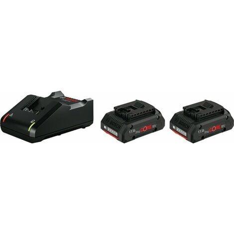Bosch 1600A01BA3 chargeur de batterie Li-Ion 18 V (2x 4.0Ah)