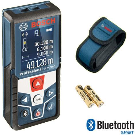 Bosch GLM 50 C - Télémètre laser dans housse de protection - Bluetooth - 50m