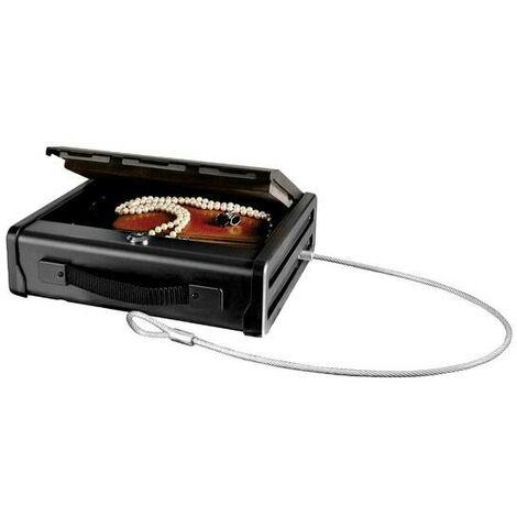 Master Lock PP1KML - Coffre-fort compact - A Clé - Avec Câble - pour chéquiers, bijoux, passeports, etc.