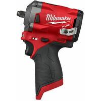 "Milwaukee M12 FIW38-0 - Clé à choc Li-Ion 12V (machine seule) - 339Nm - 3/8"" - moteur brushless"