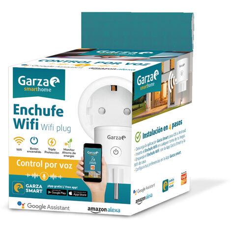 Garza SmartHome - Pack 4 Enchufes inteligentes wifi compatible con Alexa y Google Home. Enchufe por control remoto y programable controlable a través de App iOS y Android.
