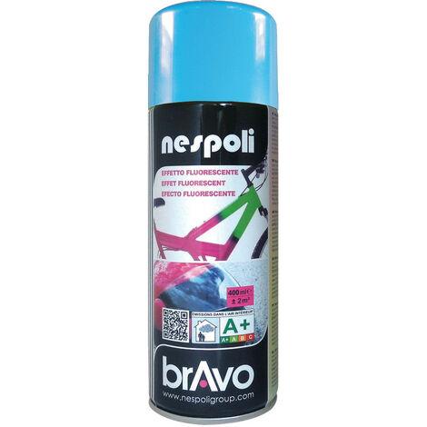 Aérosol peinture professionnelle fluorescent bleu 400 ml, NESPOLI