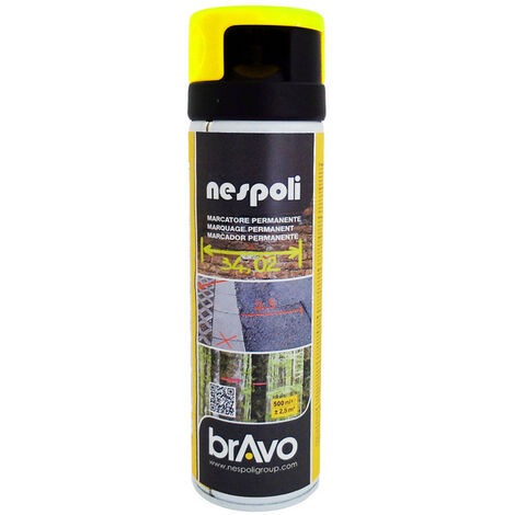 Aérosol traceur de chantier jaune fluo  500 ml , NESPOLI