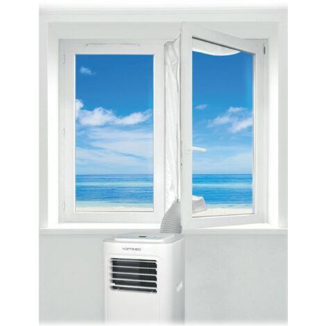 Kit fenêtre universel longueur 4M calfeutrage porte et fenêtre pour climatiseur mobile KIT-FEN-4M OPTIMEO (Marque française)