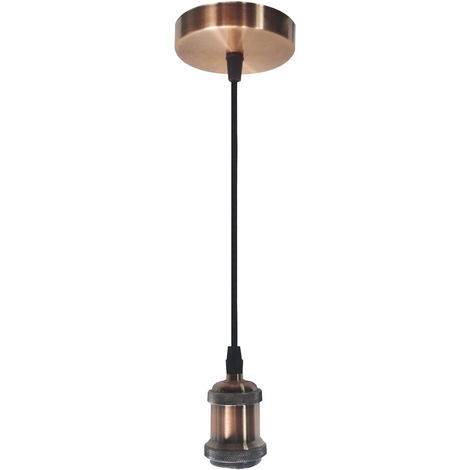 Lámpara de Techo Vintage de Metal E27 Cobre 7hSevenOn Deco