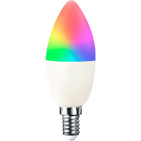 Bombilla LED Vela Smart WiFi E14 5,5W Equi.35W 470lm RGBWW Regulable vía Smartphone/APP 25000H 7hSevenOn Home