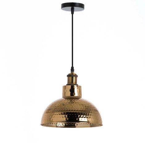 Lámpara de Techo Kutno Dorado 26x26x16cm 7hSevenOn Deco