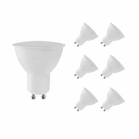 Pack 6 Bombillas LED GU10 Spotlight 6W Equi.50W 540lm Luz Fría Raydan Home