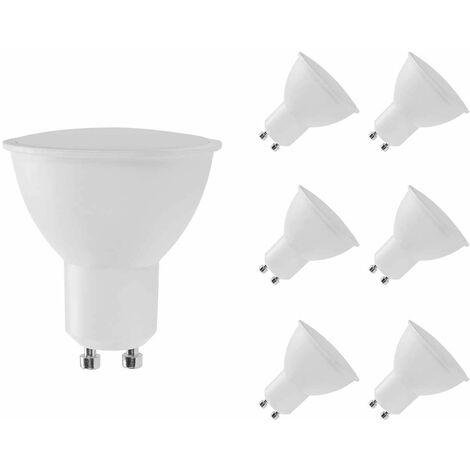Pack 6 Bombillas LED GU10 Spotlight 8W Equi.60W 700lm Raydan Hom Temperatura - 6000K