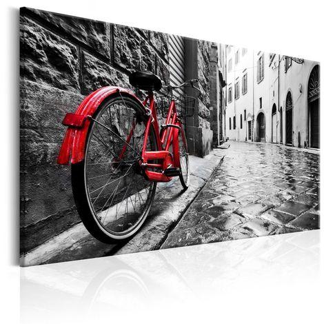 Cuadro Vintage Red Bike cm 90x60 Artgeist