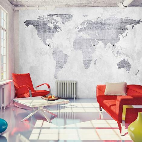 Fotomural autoadhesivo Mapa de hormigó cm 147x105 Artgeist