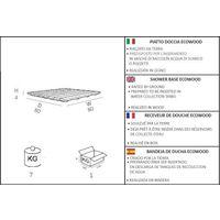 Kit de ducha con plato de ducha y fucsia cm 19x17x215 ARKEMA DESIGN - prodotto made in Italy DOCCIA PIATTO ECOLEGNO FUCSIA