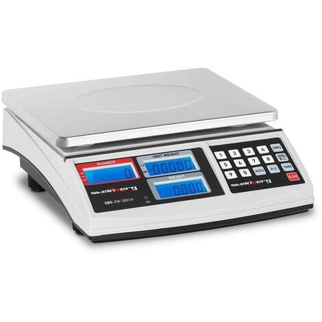 Balance Compteuse Plateau Inox Commerce Inventaire Pro 30Kg Haute Précision 1G