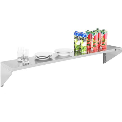 Etagere Murale Avec Vis De Fixation Et Consoles 30X150Cm Inox Royal Catering