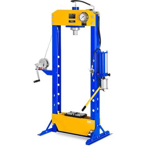 Presse Hydraulique Pmatique Atelier 30 T Manometre Table 460 Mm 8 Hauteurs