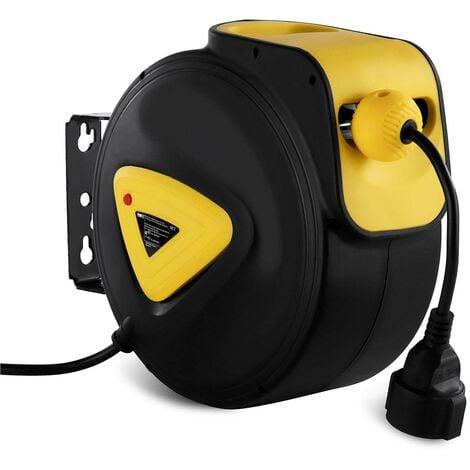 Enrouleur Câble Électrique Dévidoir Enrouleur Rallonge 15 + 1 5 M Automatique