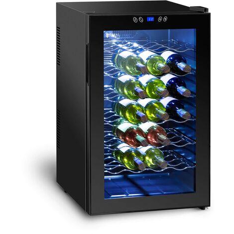 Cave à vin Frigo à boissons Frigo à effet peltier 80L 28 Bouteilles 11-18°C Led