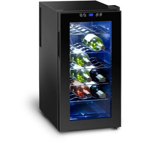 Cave à vin Frigo à boissons Frigo à effet peltier 50L 18 Bouteilles 11-18°C Led