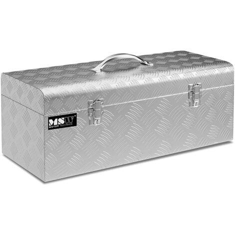 Coffre De Rangement Aluminium Damier Malle De Transport MSW 31L 57,5x24,5x22cm