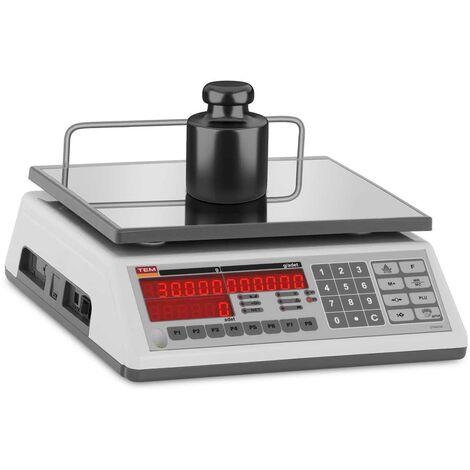 Balance Compteuse De Comptage Peseuse Professionnelle Inventaire TEM 30 kg ±10 g