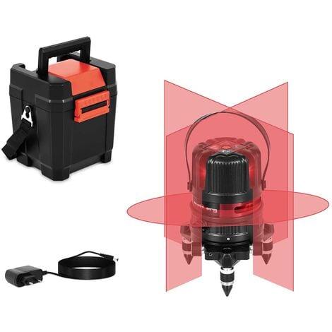 Niveau Laser En Croix Autonivelant Automatique Portée 25 Mètres Mallette Pince