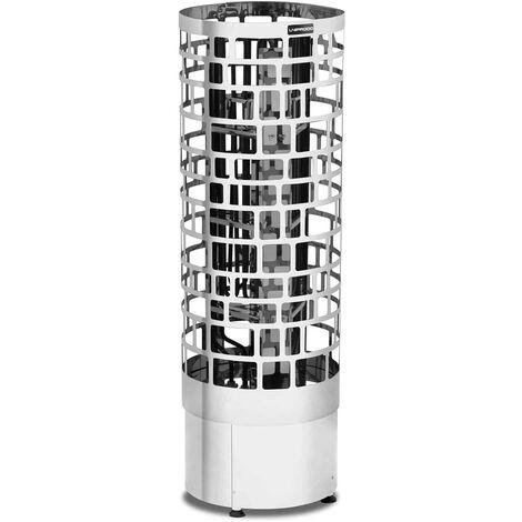 Uniprodo Poêle Radiateur Électrique Chauffage Pour Sauna Cabines De 5 - 9 m³ Inox