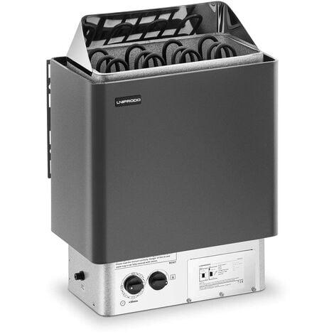 Uniprodo Poêle Radiateur Pour Sauna Bain Finnois Chaleur Sèche 6 kW, 0-110 °C 400 V