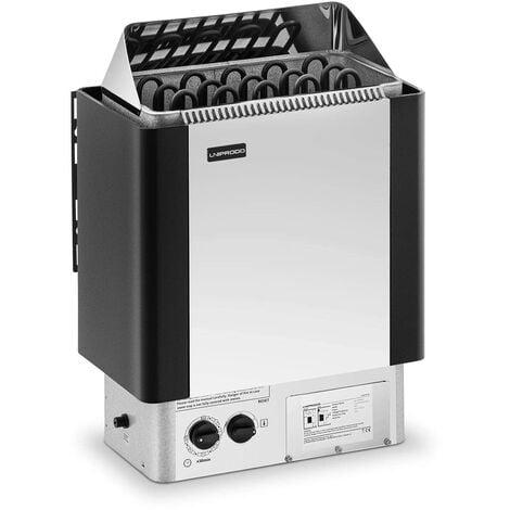 Uniprodo Poêle Radiateur Électrique Chauffage Pour Sauna Cabines De 8 - 12 m³ Inox